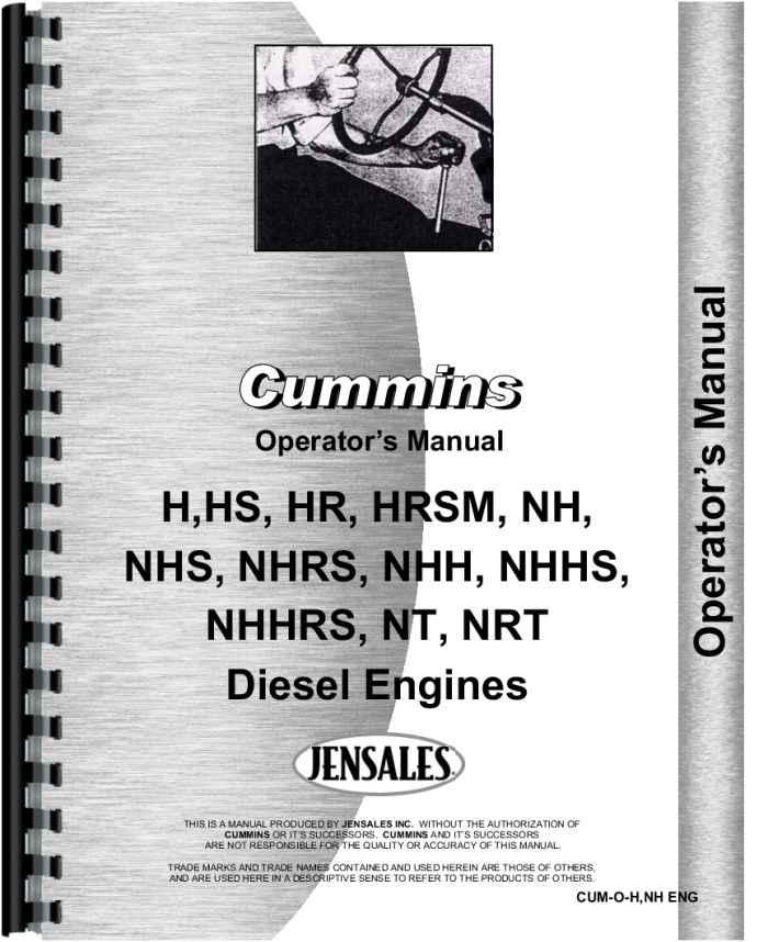 cummins nhs engine operators manual rh agkits com Cummins ISX Manual 5.9 Cummins Manual