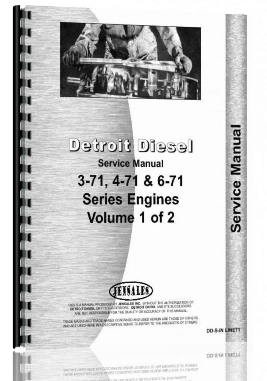 Detroit 3-71, 4-71, 6-71 Engine Service Manual (HTDD-SINLINE71)