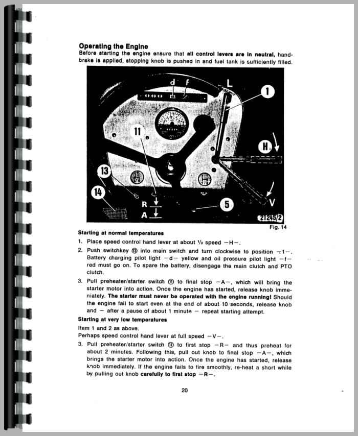 Deutz D4006 Tractor Operators Manual