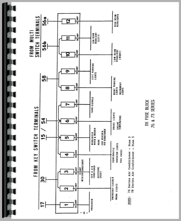 Deutz Allis D4006 Tractor Wiring Diagram Service Manual Htde Swiring