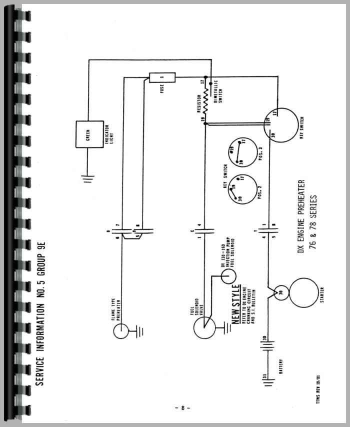 Deutz D4006 Tractor Wiring Diagram Service Manual