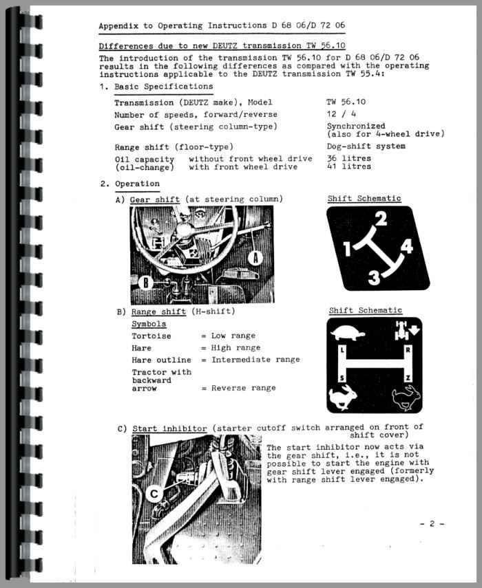 deutz d tractor operators manual tractor manual