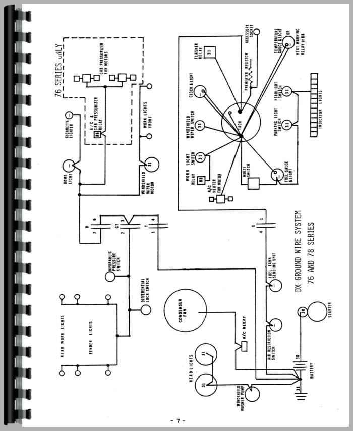 deutz d7007 tractor wiring diagram service manual rh agkits com John Deere 140 Electrical Diagram John Deere Electrical Diagrams