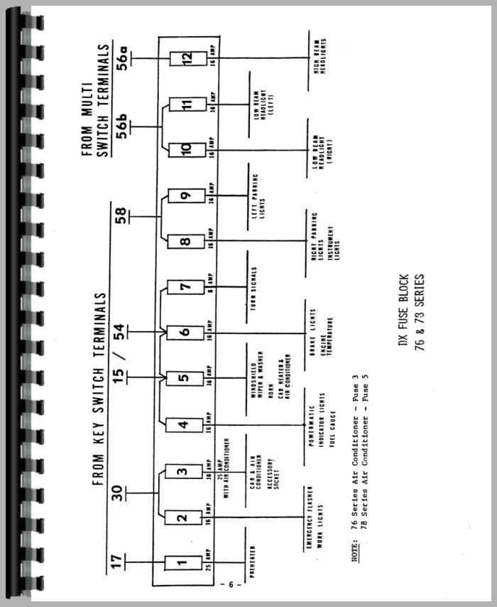 deutz d7206 tractor wiring diagram service manual