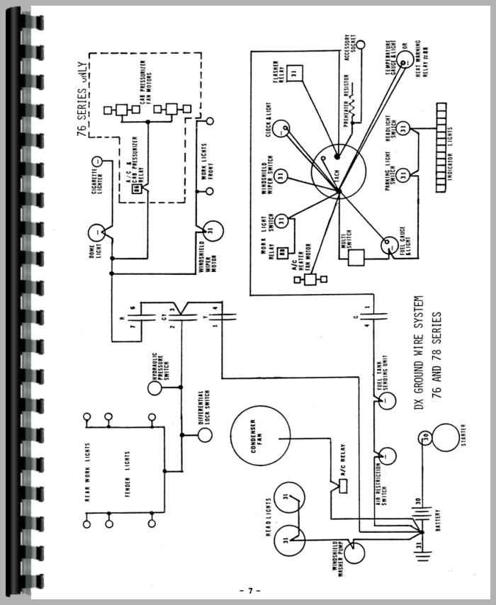 Deutz Allis D8006 Tractor Wiring Diagram Service Manual Htde Swiring