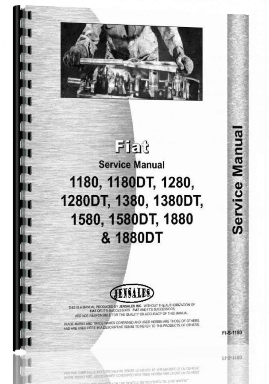 fiat 1180 1280 1380 1580 1880 tractor service manual rh agkits com Versatile Tractors Fiat Tractor Italy