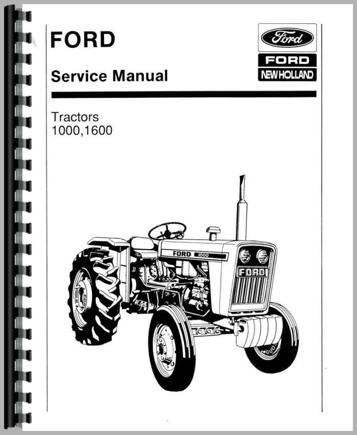 Ford 1000 Tractor Parts Manual Manual Guide