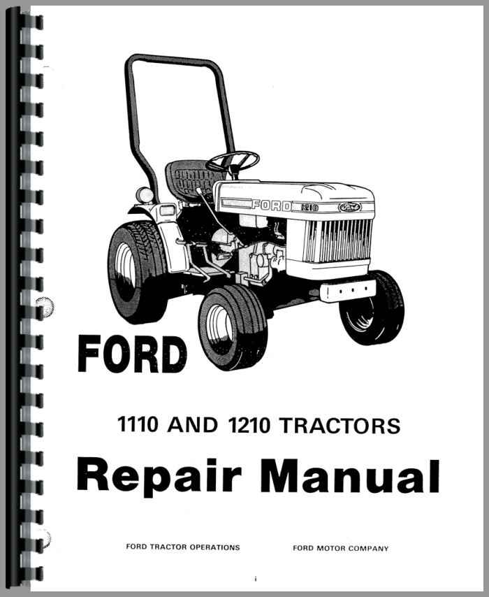 Ford 1210 Steering Parts : Ford tractor service manual