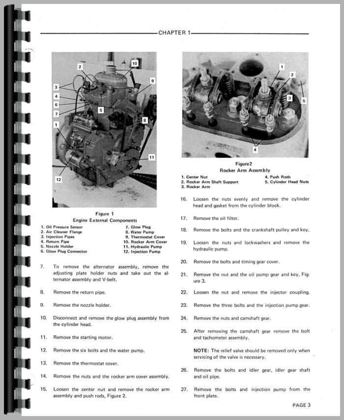 Ford 1600 Tractor Parts List : Ford tractor service manual