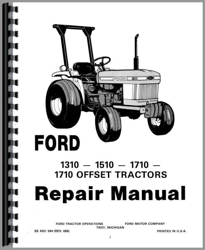 ford 1710 tractor service manual (htfo s1310) Ford 1710 Engine Parts