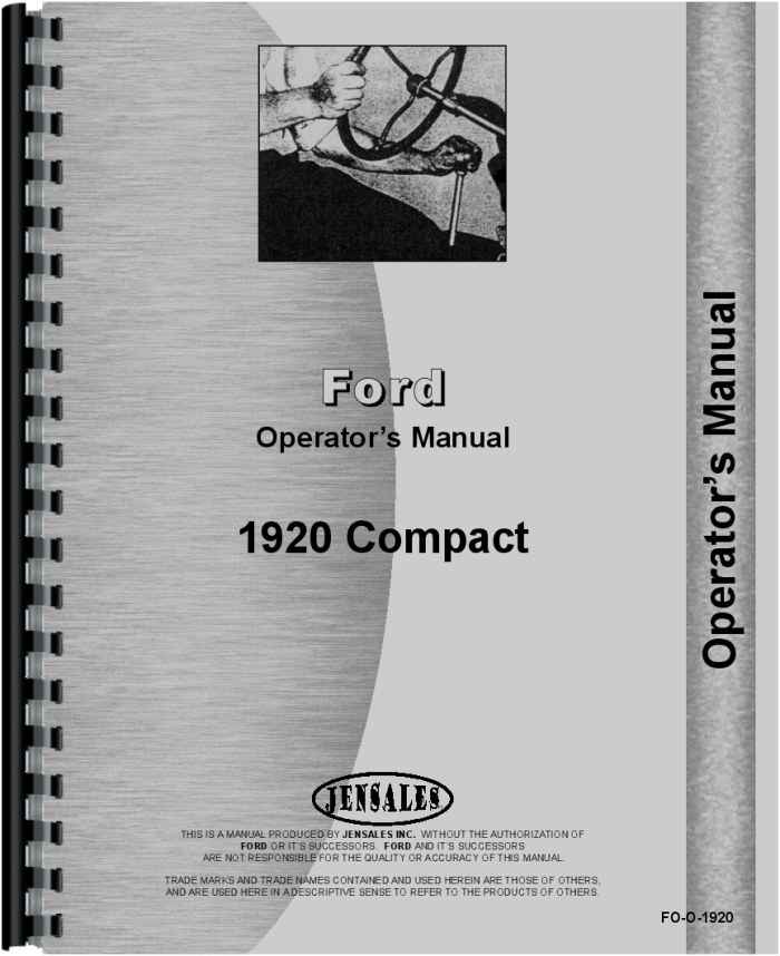 ford 1920 tractor operators manual rh agkits com ford 1920 tractor service manual pdf ford 1910 tractor manual free