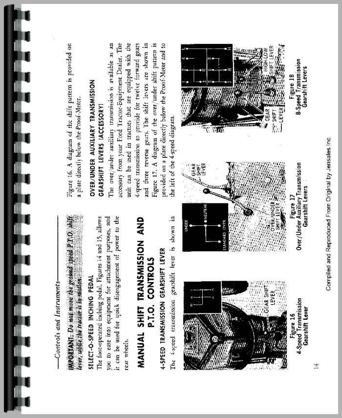 ford 4000 tractor operators manual