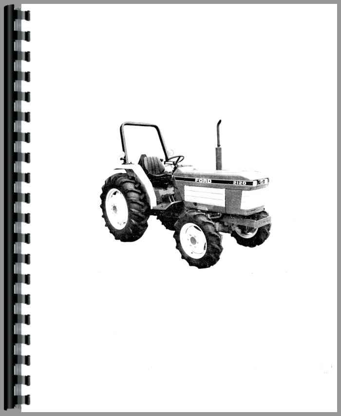 Ford 2120 Tractor : Ford compact tractor operators manual