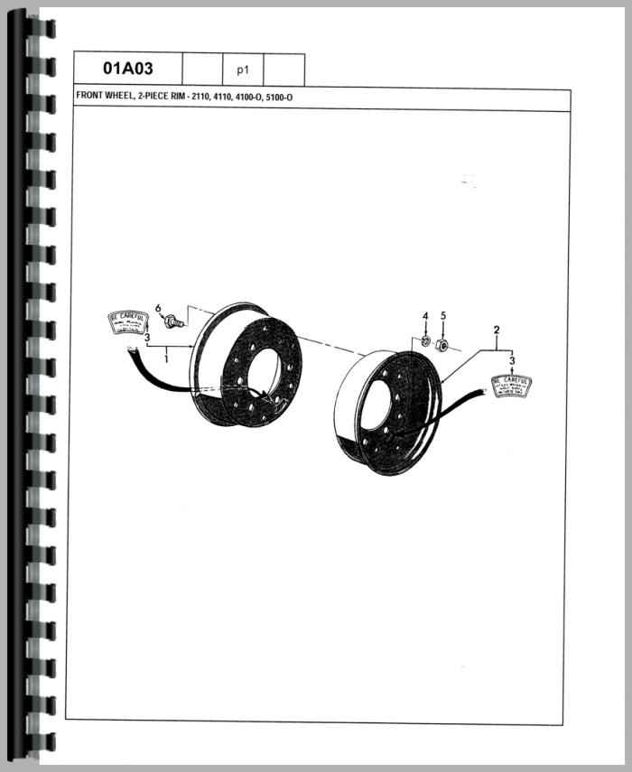 ford 2120 tractor parts manual