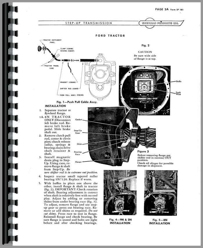 ford 2n sherman transmission service manual rh agkits com Ford 2N Tractor History Ford 2N Tractor History