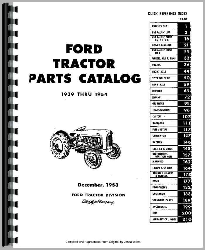 2n Ford Tractor Rims Used : Ford n tractor parts manual