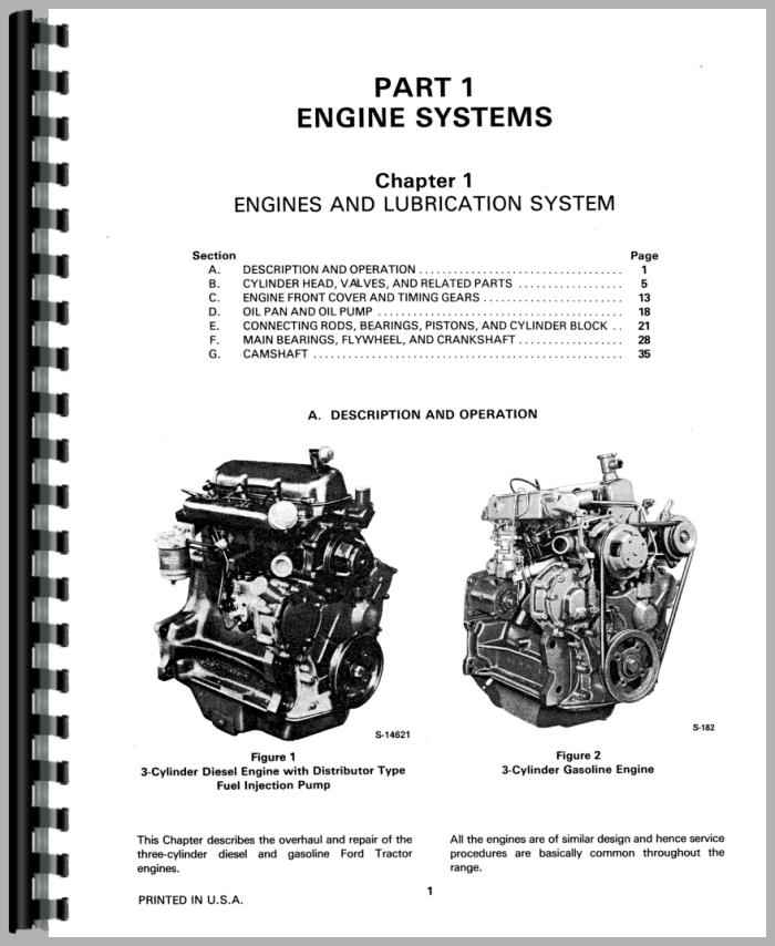 Ford 335 Industrial Tractor Service Manual (HTFO-S230A231)