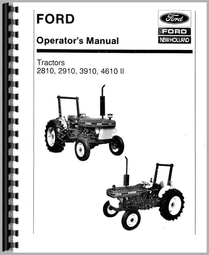 3910 Ford Tractor Transmission Diagram : Ford tractor operators manual