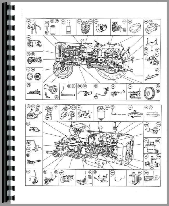 ford 4000 major tractor parts manual