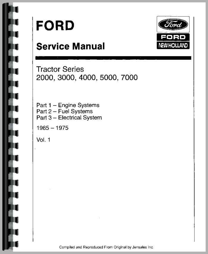 Ford 4000 Diesel Tractor Manual : Ford tractor service manual