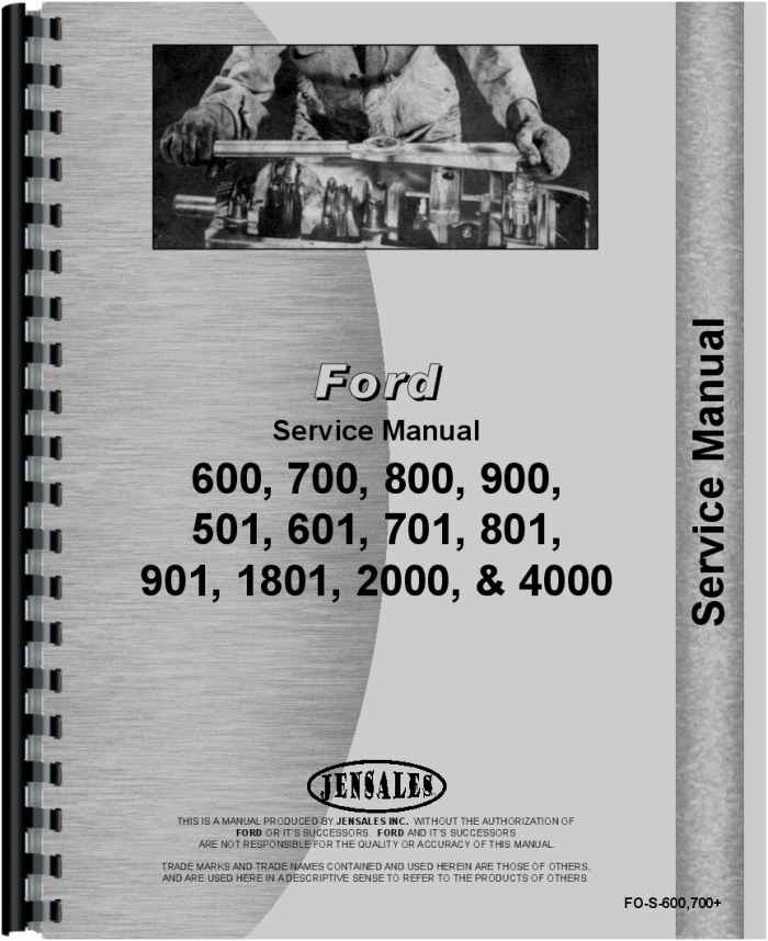 ford 4000 tractor service manual rh agkits com ford oem repair manual dvd ford oem owners manual