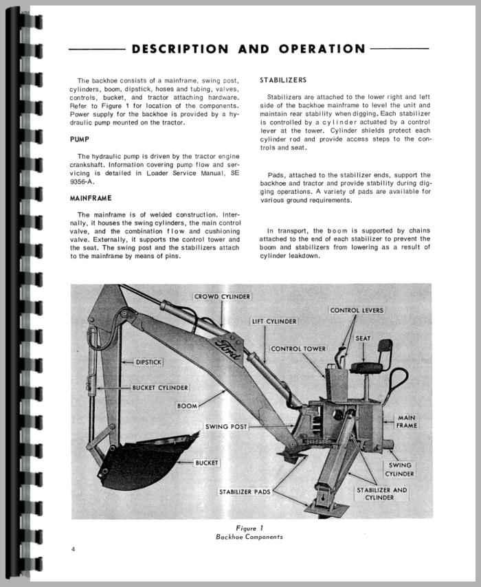 Ford 750 Backhoe Service Manual