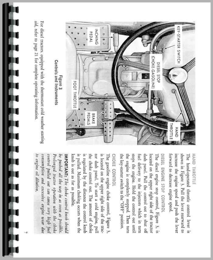 Ford 4400 Industrial Tractor : Ford industrial tractor operators manual