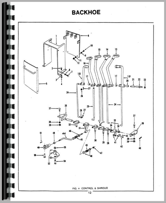 Ford 4500 Tractor Parts Diagram : Ford backhoe attachment parts manual