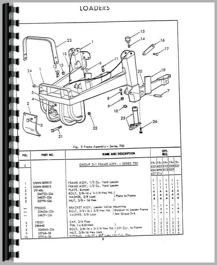 ford 4500 industrial loader attachment parts manual rh agkits com 4500 Ford Owner's Manual Ford 4500 Backhoe Operators Manual
