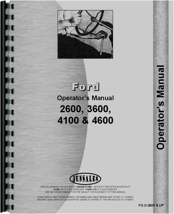 ford 4600 tractor operators manual ford 4600 tractor operators manual htfo o2600up