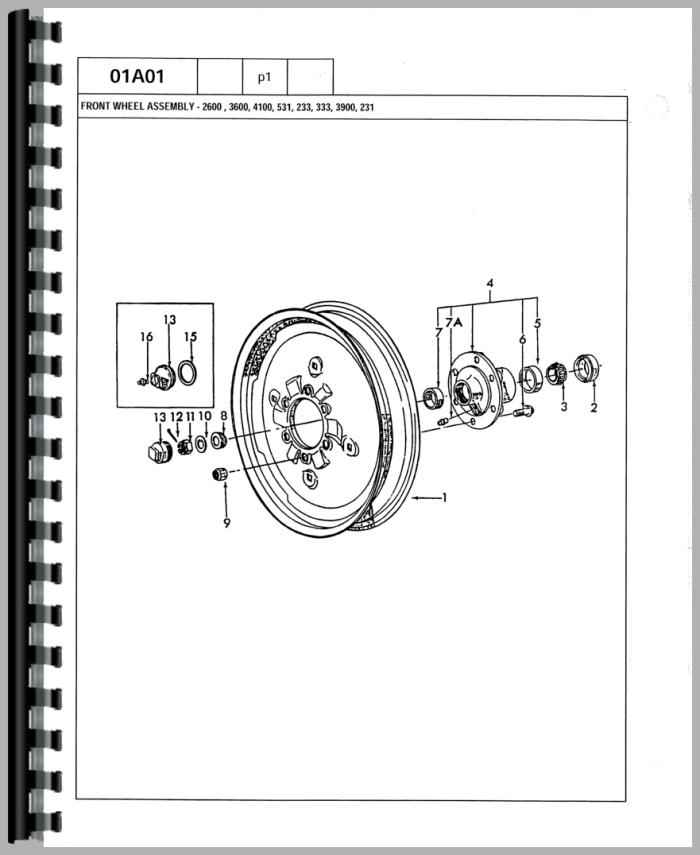 ford 4600 tractor parts manual rh agkits com ford 7600 tractor parts diagram Ford 3600 Diesel Tractor Wiring Diagram