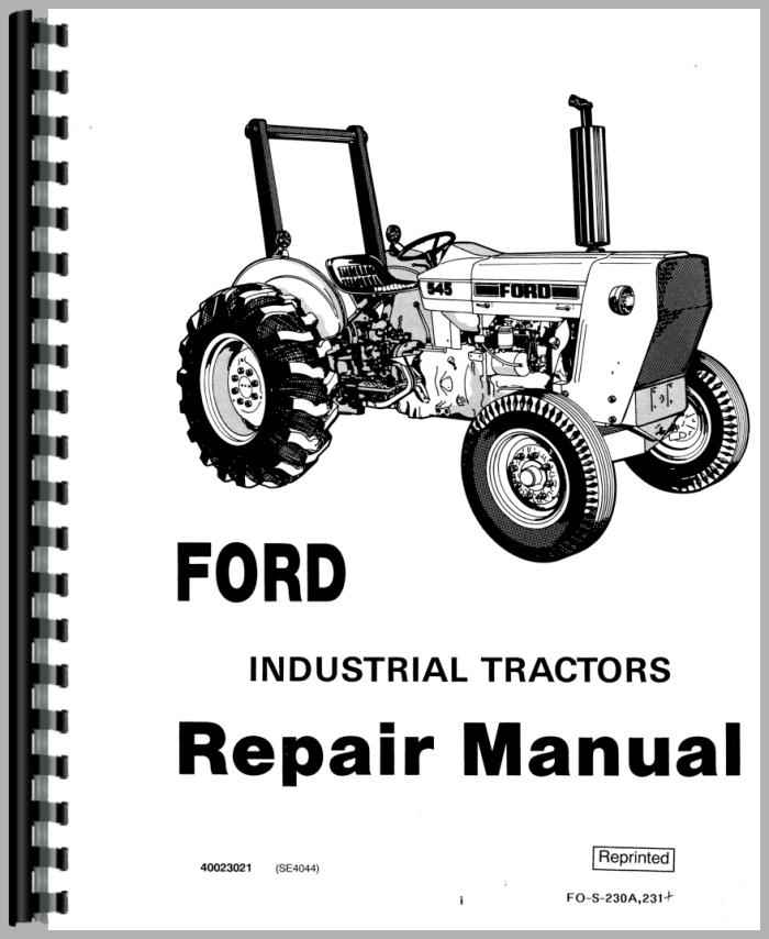 Tractor Manual Thickness : Ford industrial tractor service manual