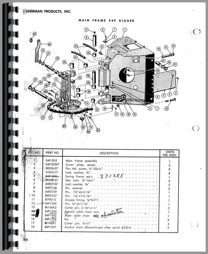 Ford Backhoe Parts List : Ford f sherman backhoe attachment parts manual