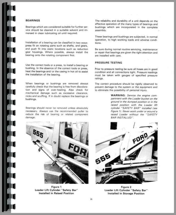 ford 550 tractor loader backhoe service manual