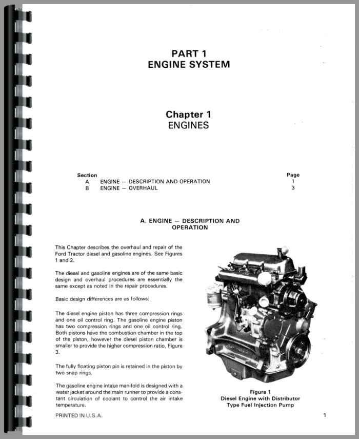 Ford 550 Tractor Loader Backhoe Service Manual