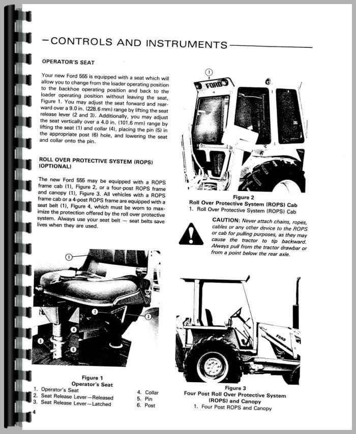 Details about  /Operators Manual Ford 555B Diesel Industrial Tractor