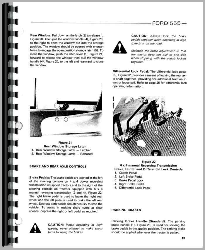 ford 555 tractor loader backhoe operators manual