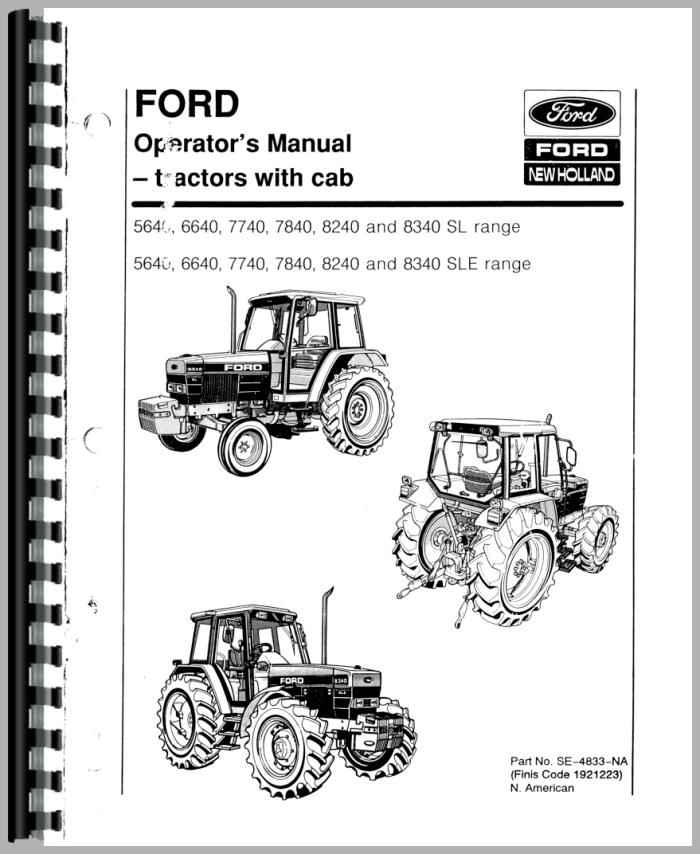 Ford 5640 Tractor Parts : Ford tractor operators manual