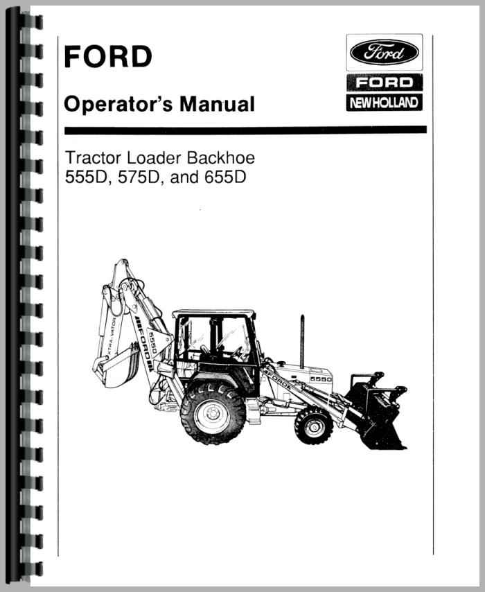 ford  tractor loader backhoe operators manual
