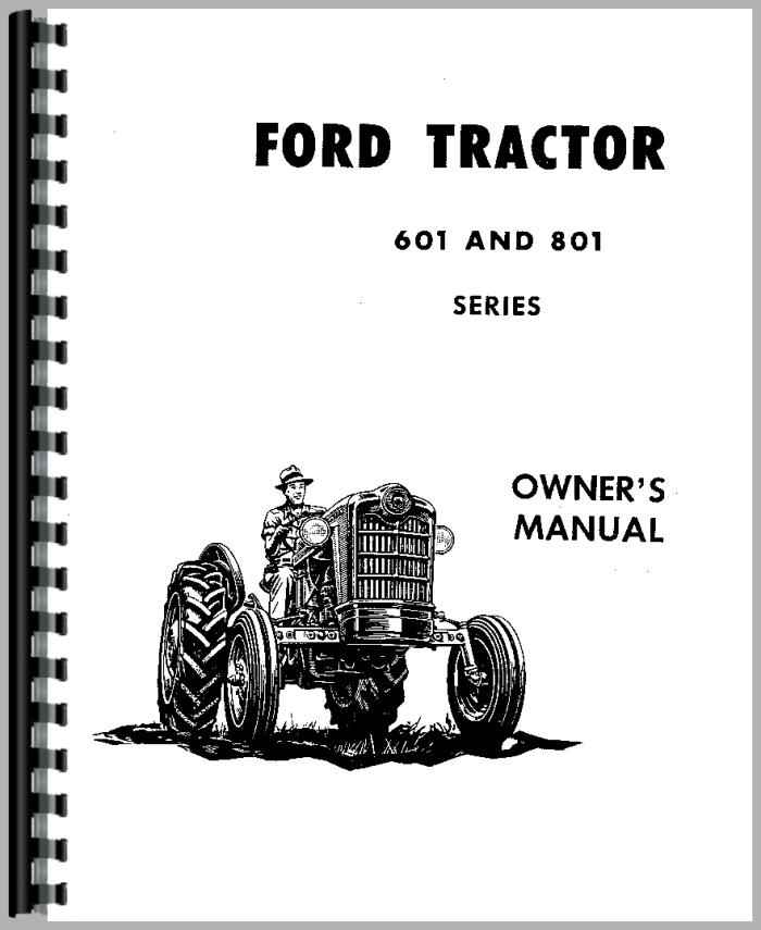 ford 611 tractor operators manual