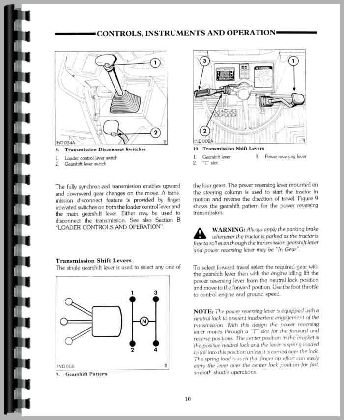 Ford 655d Backhoe Parts : Ford d tractor loader backhoe operators manual