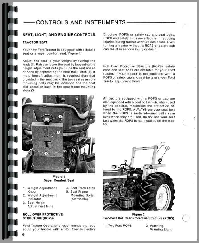 ford 6610 tractor operators manual rh agkits com ford 6610 tractor manual pdf ford tractor 6610 service manual