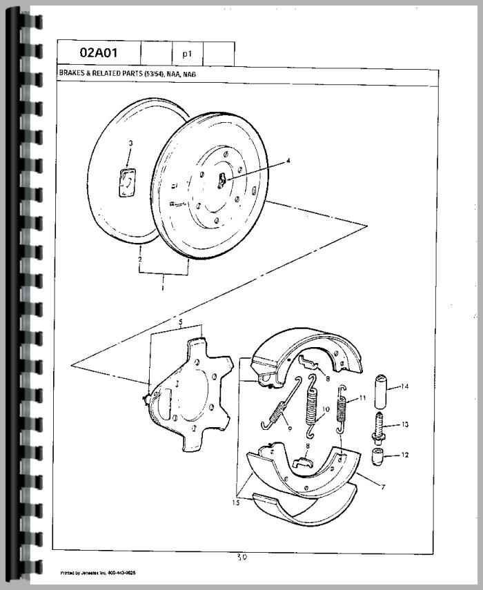 Ford 741 Tractor Parts Manual