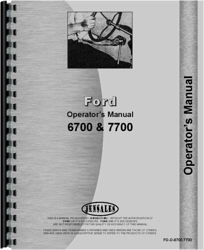 ford 7700 tractor operators manual rh agkits com ford 7700 parts manual ford 7700 service manual