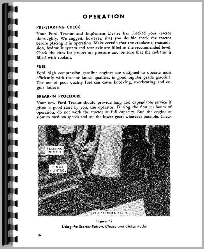 ford 801 tractor operators manual rh agkits com ford 801 parts manual ford 801 powermaster manual