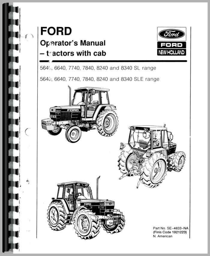 ford 8240 tractor operators manual rh agkits com 8240 ford tractor repair manual Farm Pro 8240