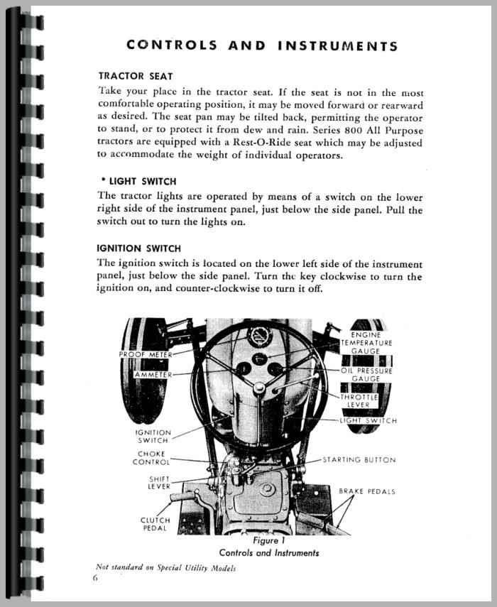 Ford 860 Tractor Parts Diagrams : Ford tractor operators manual