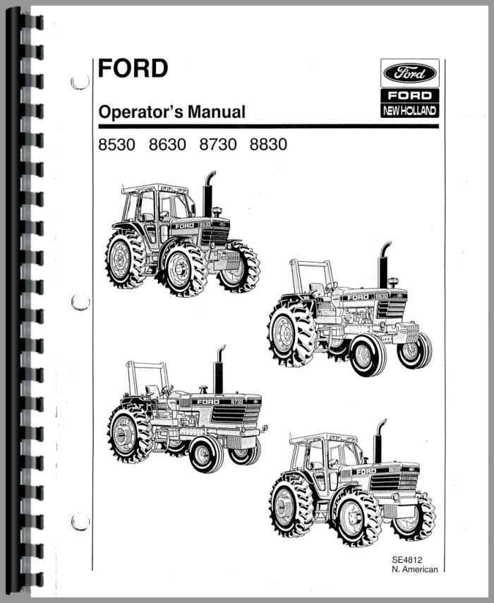 8730 Ford Operators Manual