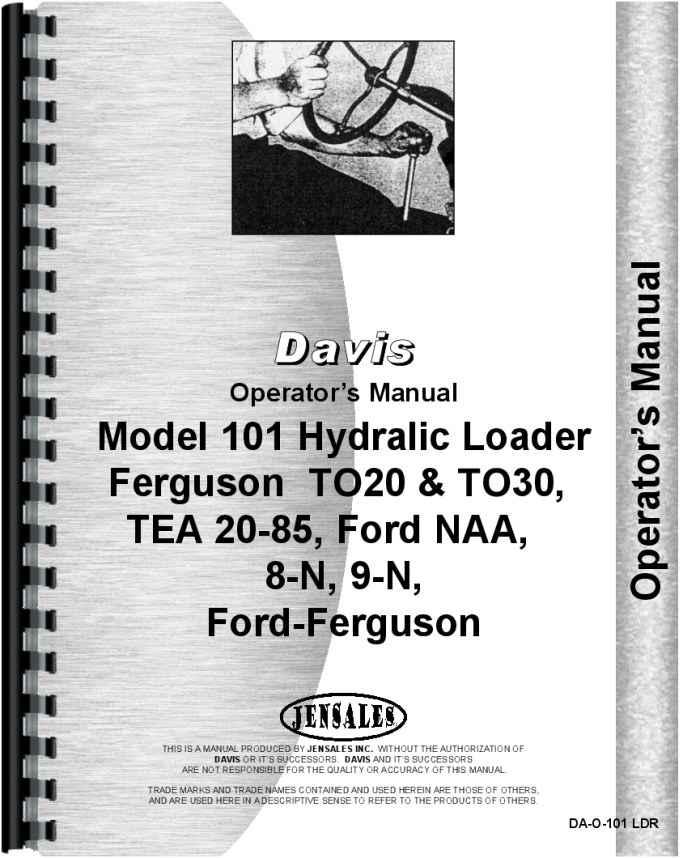 ford 8n operators manual pdf