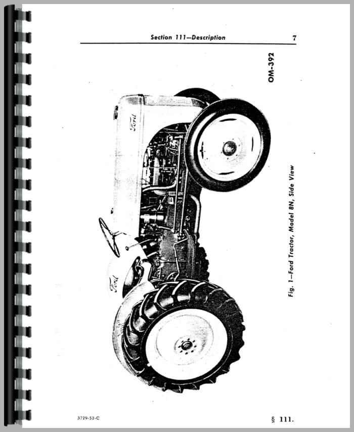 ford 8n tractor operators manual